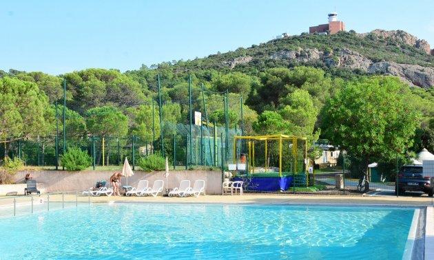 piscine camping dramont